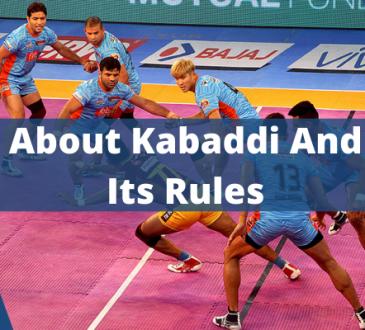 Kabaddi And Its Rules