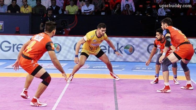 The terminology associated with Kabaddi
